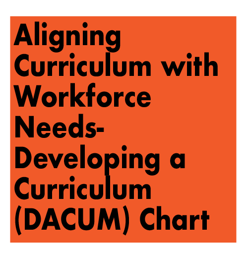 Aligning Curriculum with Workforce Needs - Developing a Curriculum (DACUM) Chart for a Cybersecurity  Analyst