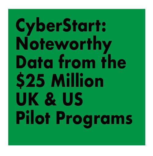 CyberStart: Noteworthy Data from the $25 Million UK & US Pilot Programs