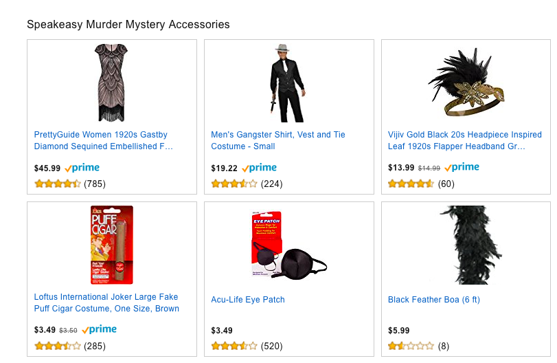 Murder Mystery Costumes and Accessories