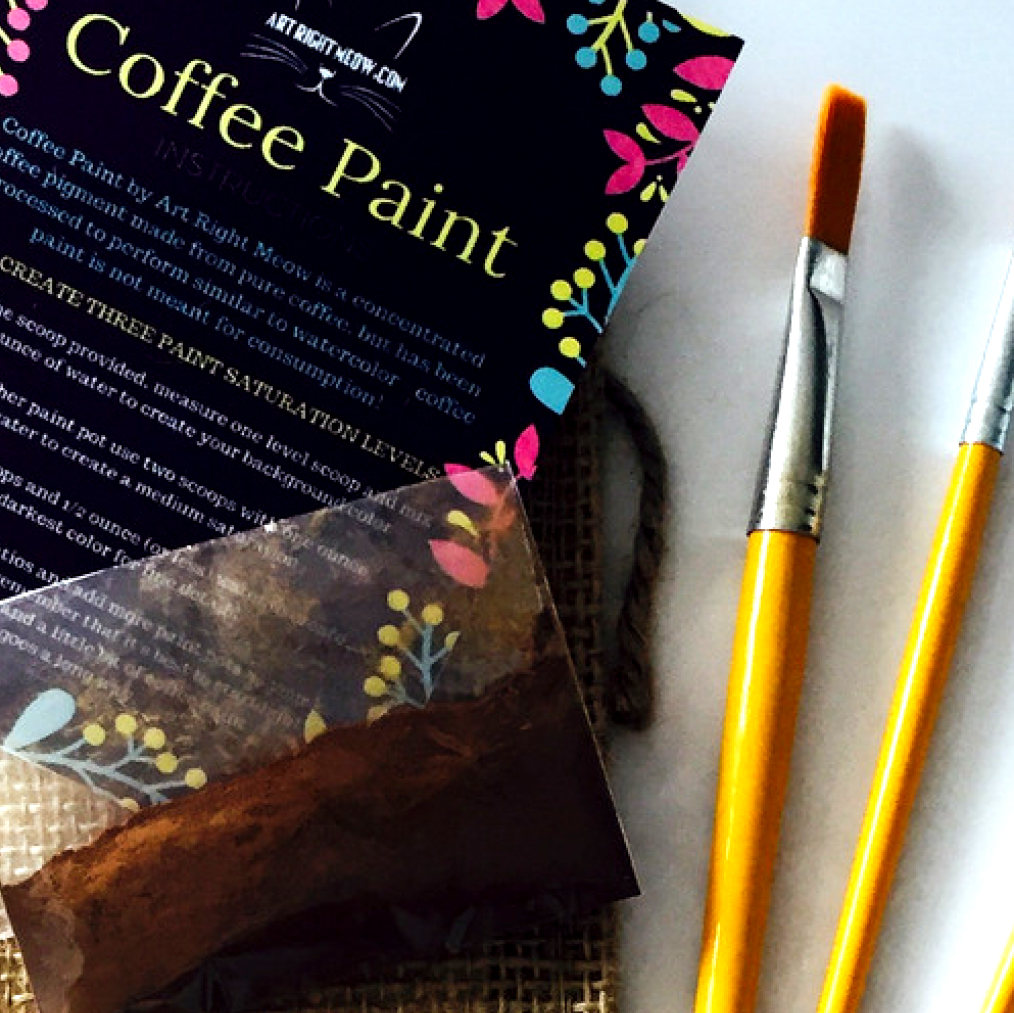 Coffee Painting Kitty Flyer