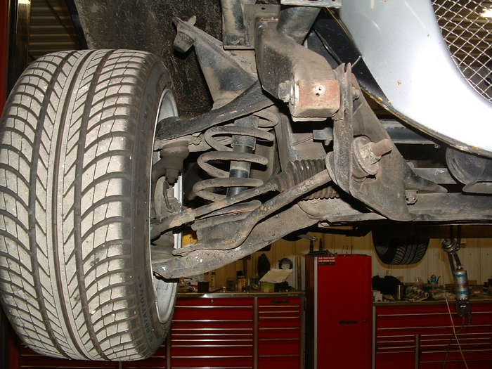 The front suspension will get coilovers new brakes and possibly a new kframe with upgraded Aarms