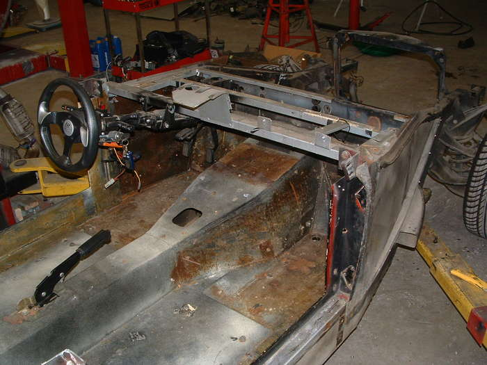 The dash was really poorly installed the braces were made out of aluminum and were way to thin.