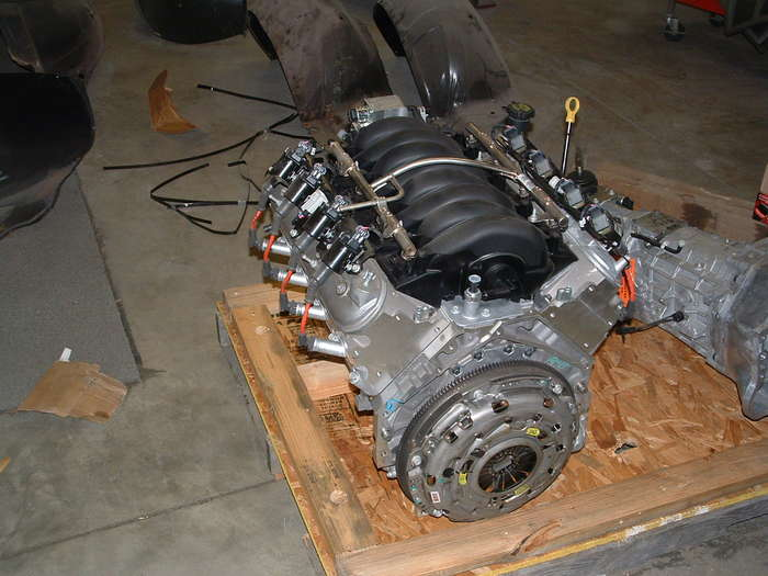 This shows the new clutch installed.