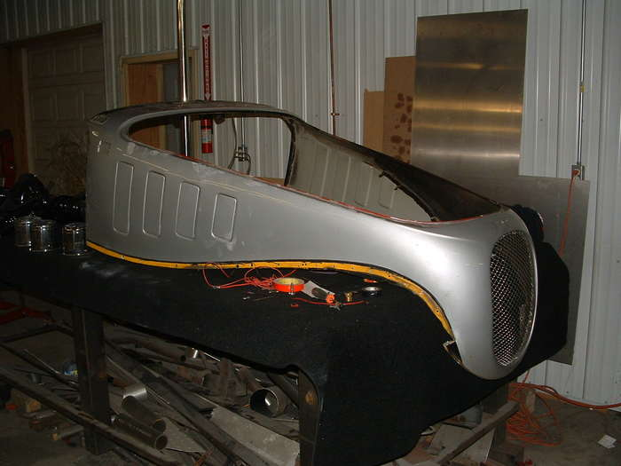 The front body panel after removal.