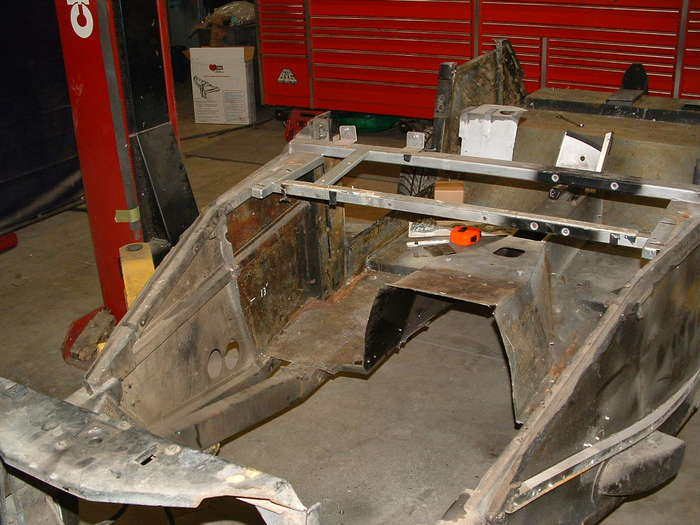 After the motor is removed from mock up we can now make the new firewall