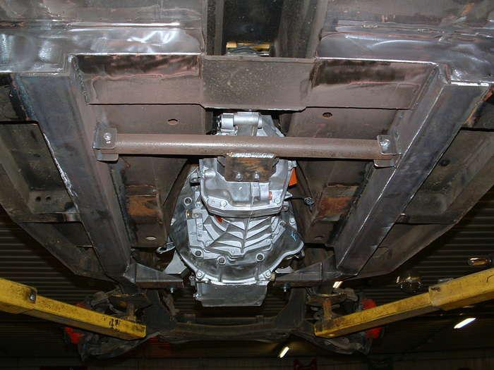 new transmission crossmember installed.