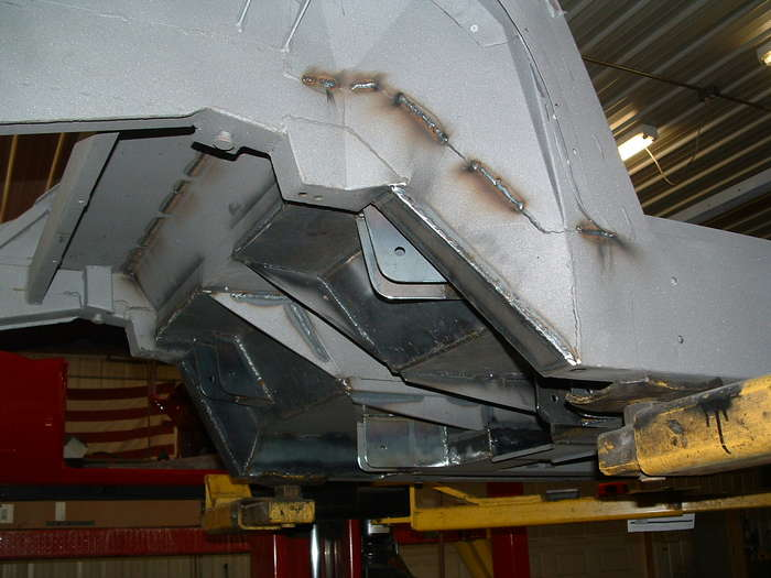 Another picture of the rear frame and all its reinforcement.
