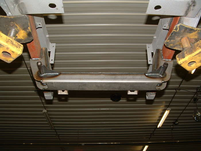 Lower shot of the new front frame section this will hold the new Aarm suspension and rack