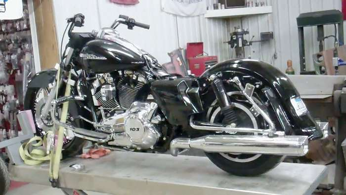 This one shows the new exhaust and although you cannot see it we have also installed the new cams and tuner.
