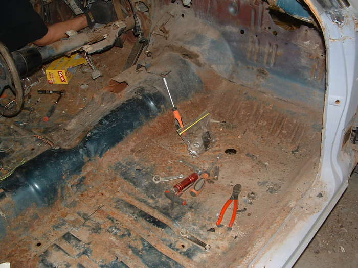 The floors are very clean just minor surface rust I am sure there will be some pin holes in the floor pans to patch