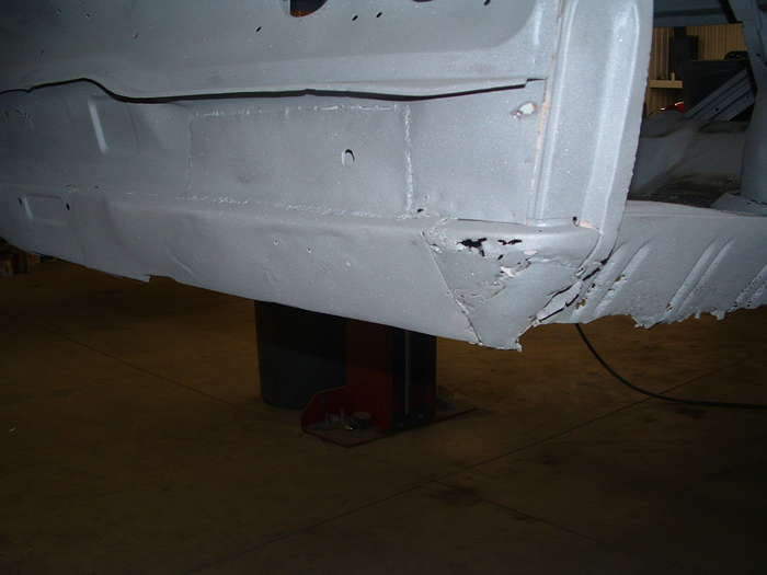 This is the other side of the tailpan another low quality repair.
