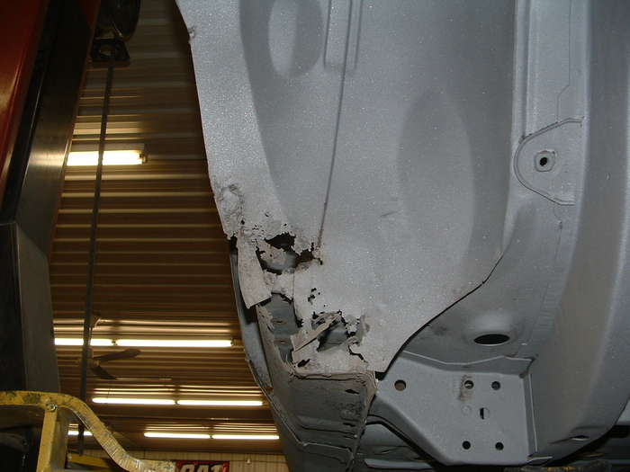 Holes in the wheel wells like this are very common on these cars this is no surprise they all have it.