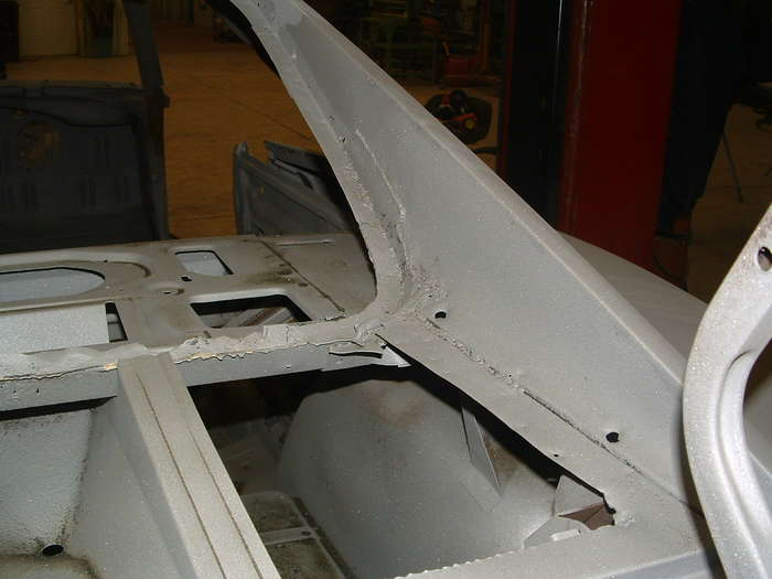 the rear window also has a few previous repairs we will have to make a few items in this area.