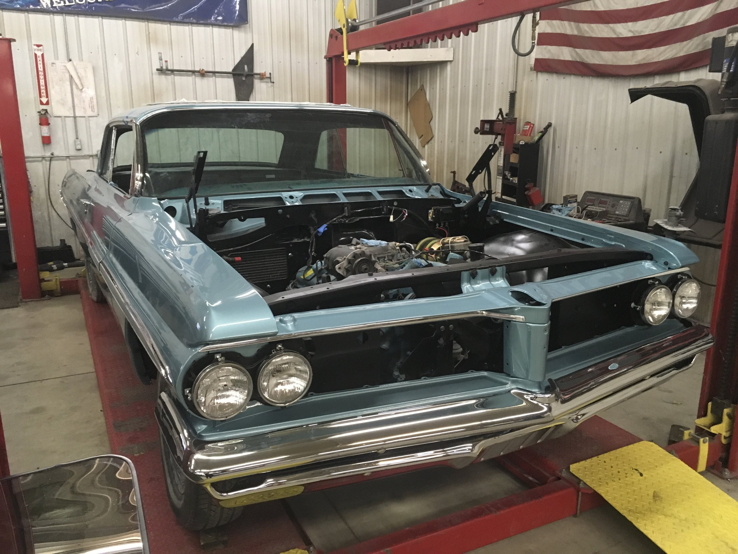 1962 Bonneville front end assembled