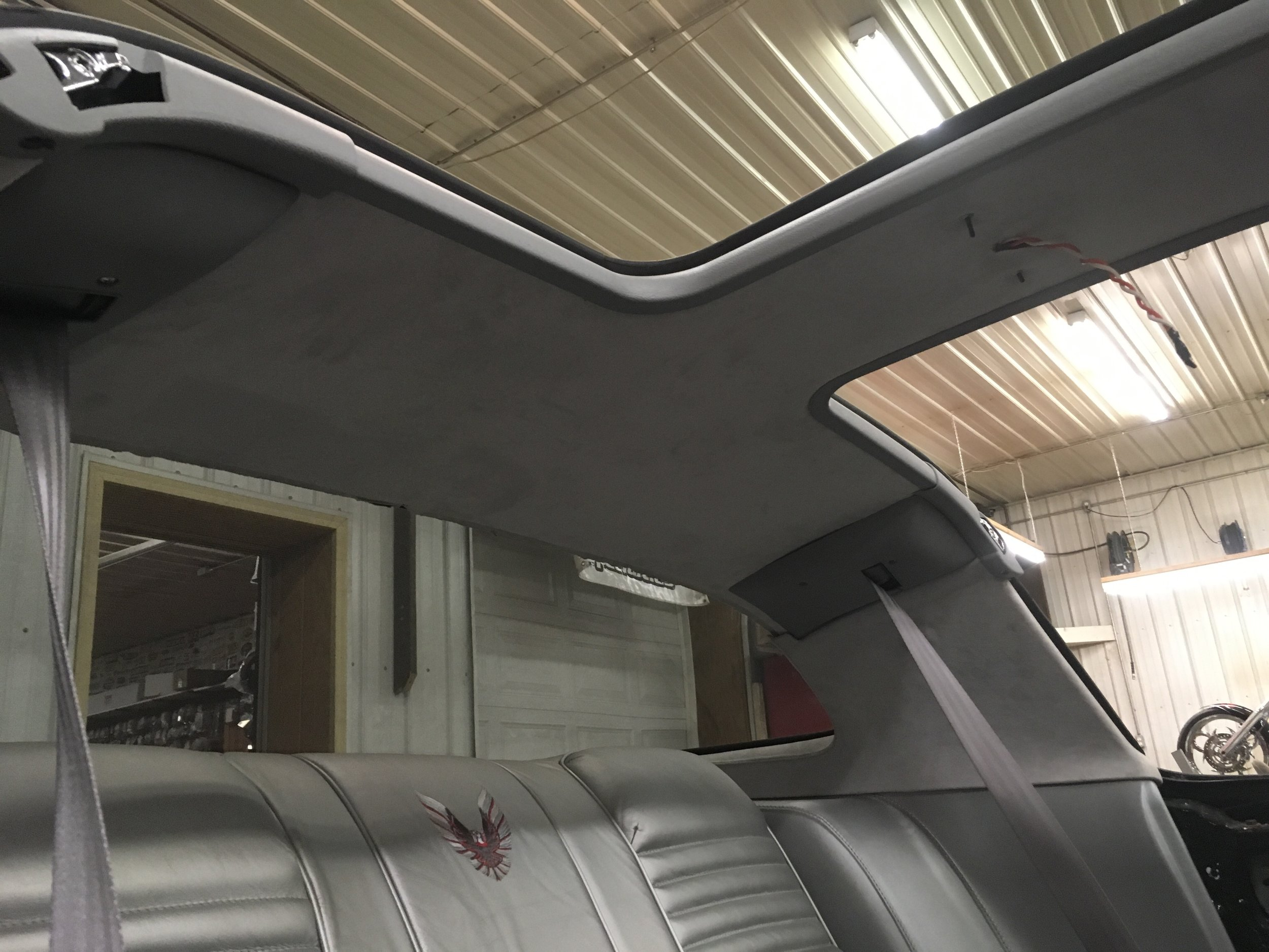 Headliner installed '79 Trans Am.