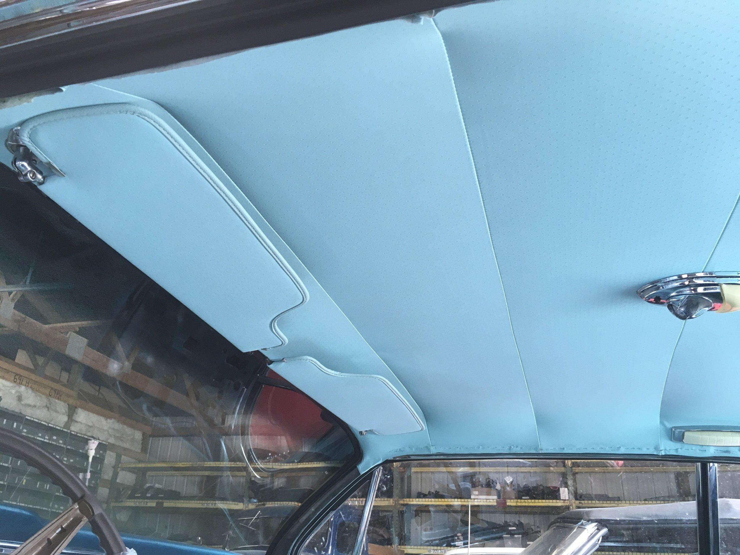Head liner installed in John's 62 Bonneville