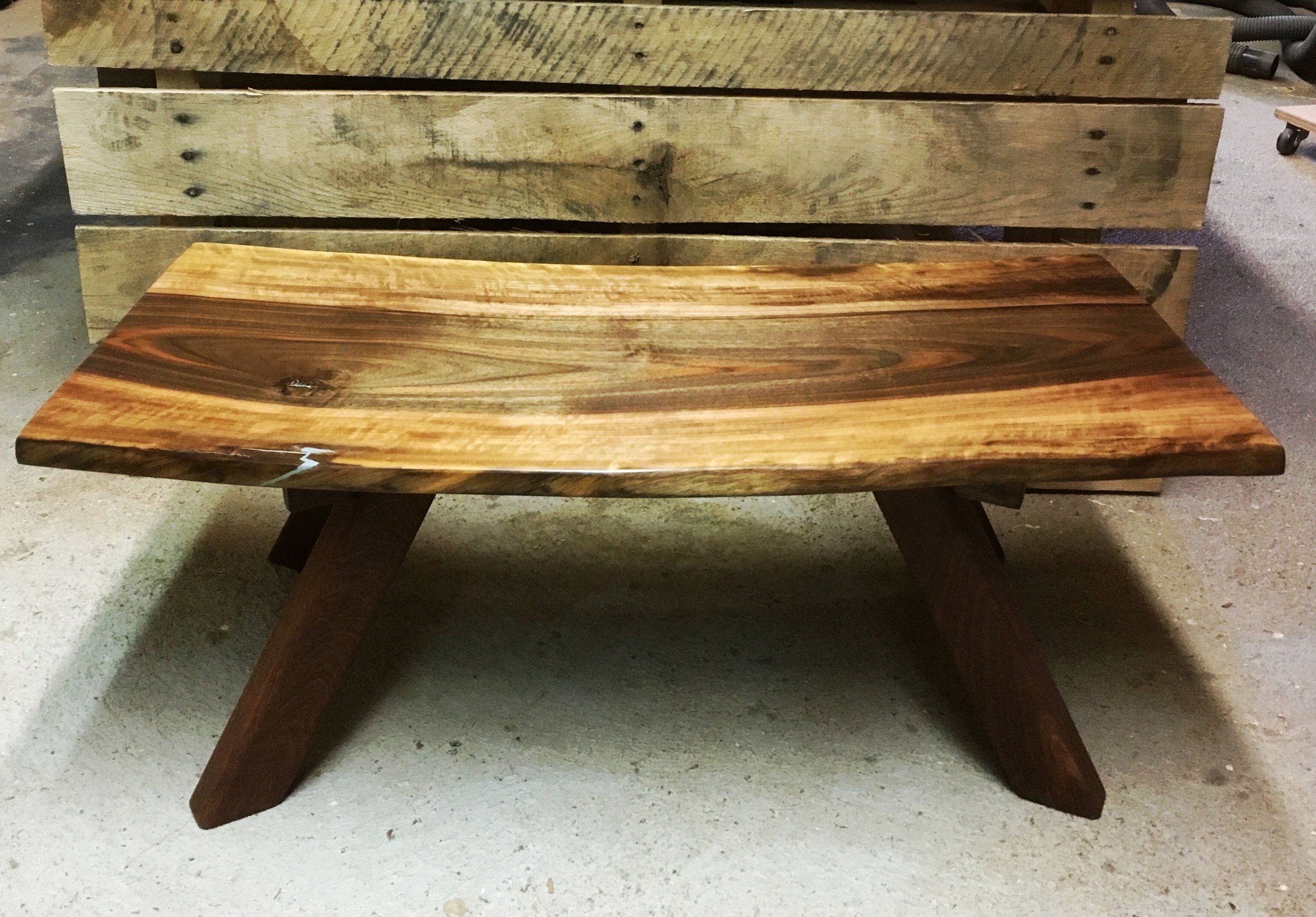 Orchard Walnut Meditation Bench
