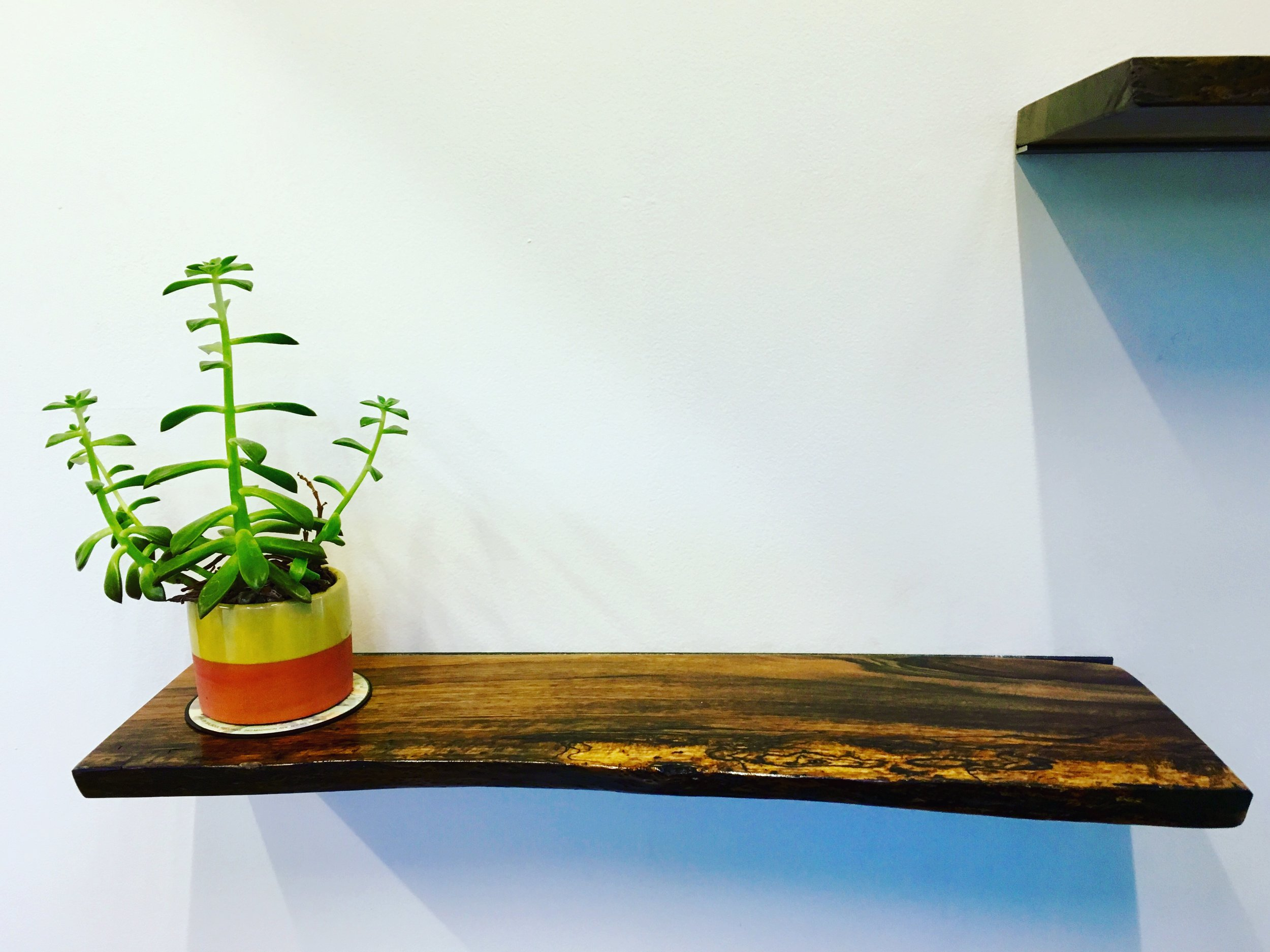 Live Edge Floating Shelf