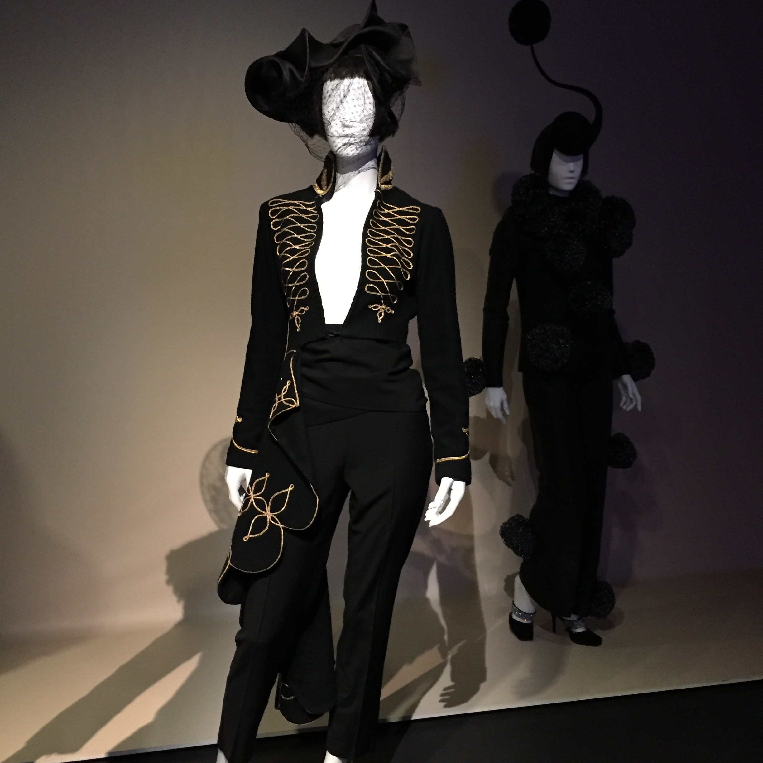 "Possibly my favorite ""wearable"" outfit from the exhibition... This black matador suit. I love everything about it."
