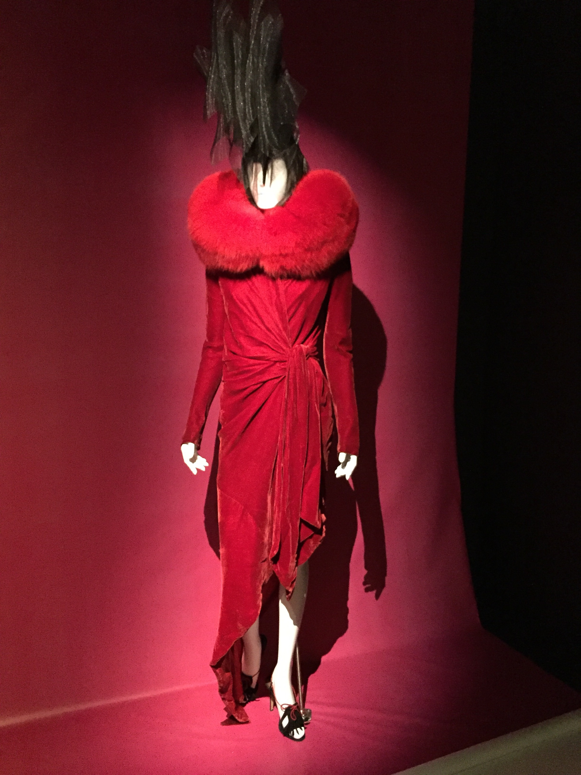A gorgeous draped dress.