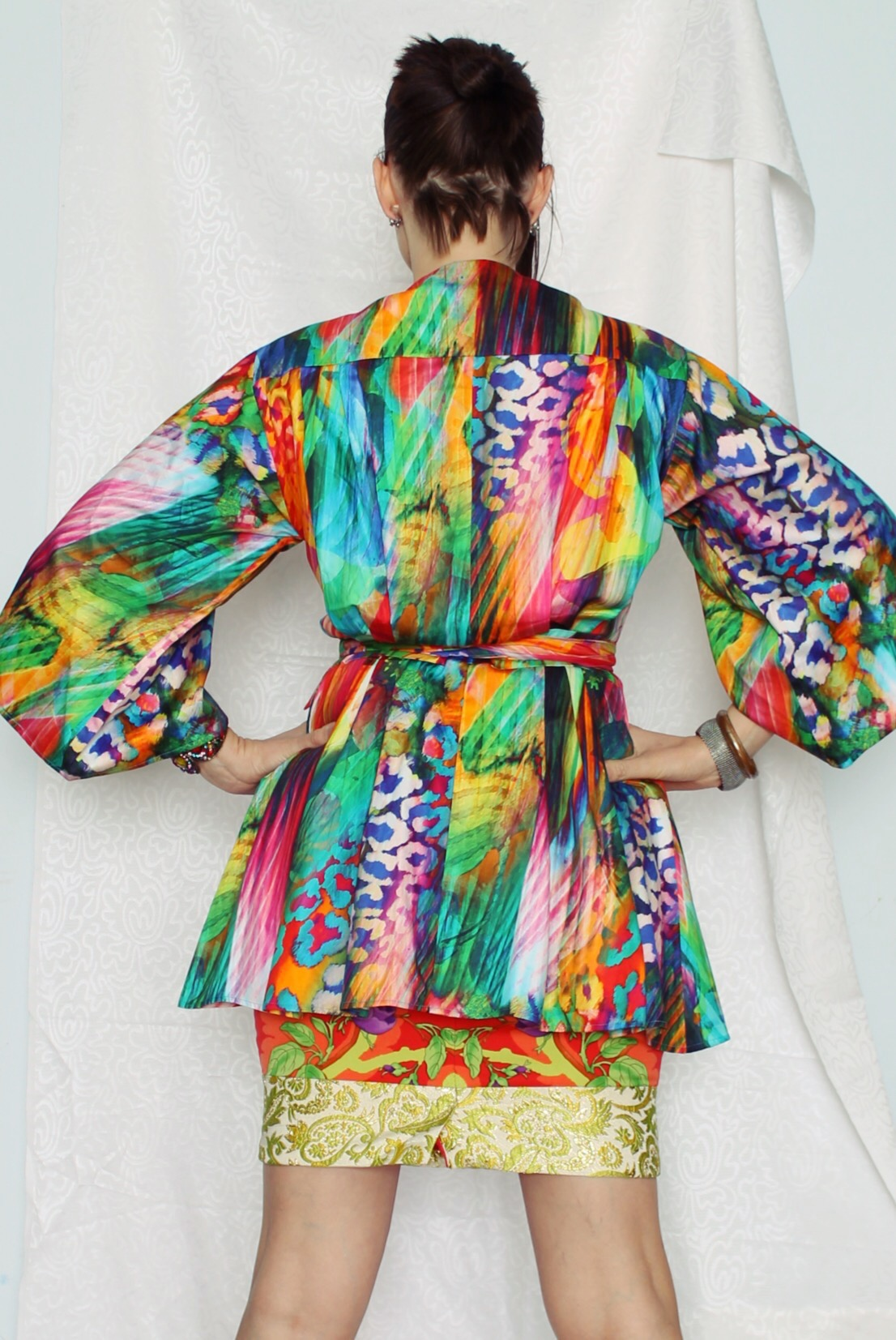 The back of the Kaleidoscope Kimono, and all of the pleats.