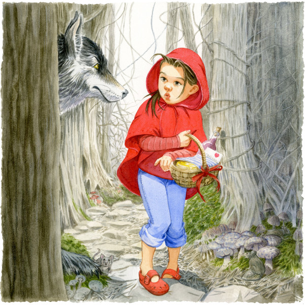 """Red Riding Hood"" by Anni Matsick  Honorable Mention, Society of Children's  Writers & Illustrators' Tomie dePaola  Illustration Competition 2016"