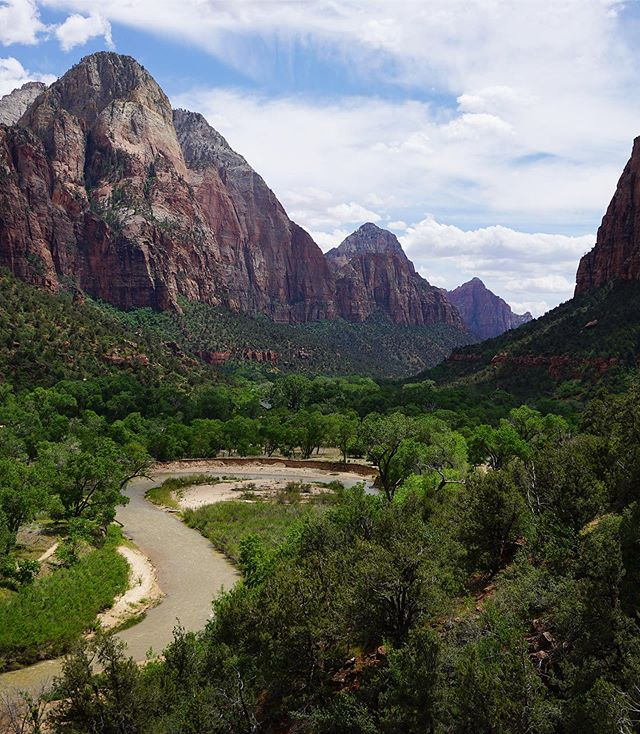 A warm spring day in Zion National Park.