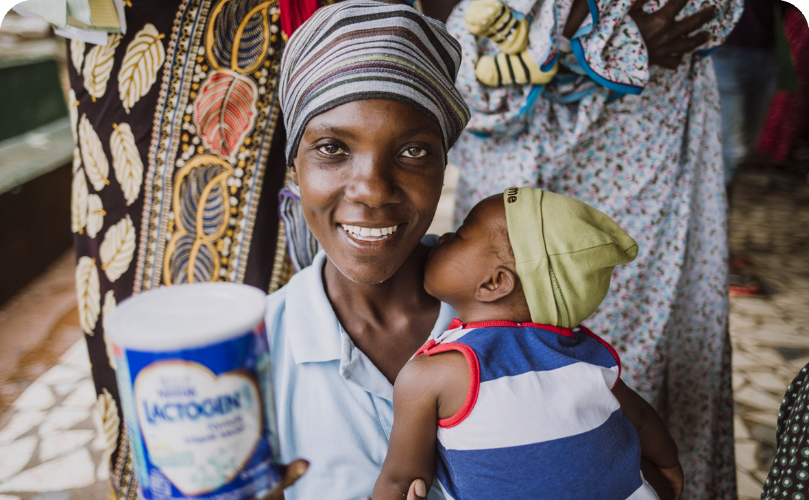 Sponsor Milk - Our Milk Programs provide life-saving milk, nutrition support, and education to both baby and mother for a healthier future.Learn More →