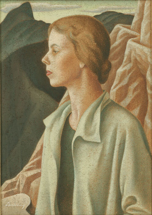 Self Portrait , 1933  Oil on celotex 28 x 20 inches; 76.2 x 50.8 centimeters