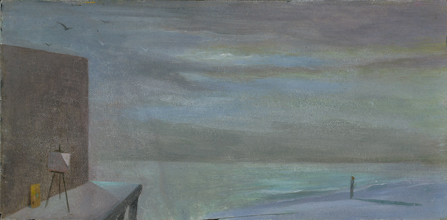 Abandoned Easel #4 , 1946  oil on cardboard 5 1/4 x 10 1/4 inches; 13.3 x 26 centimeters