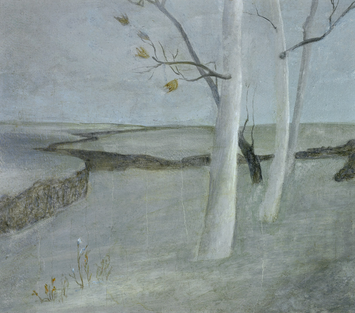 White Trees , 1947  oil on board 9 x 10 inches; 22.9 x 25.4 centimeters