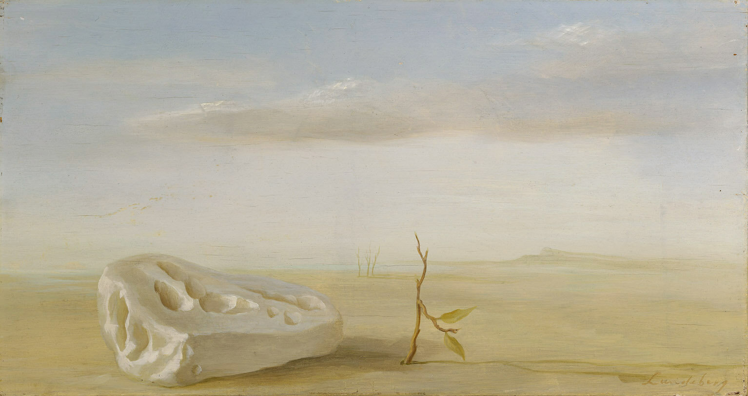 Untitled Composition (Landscape) , 1948  oil on board 10 1/4 x 19 1/4 inches; 26 x 48.9 centimeters