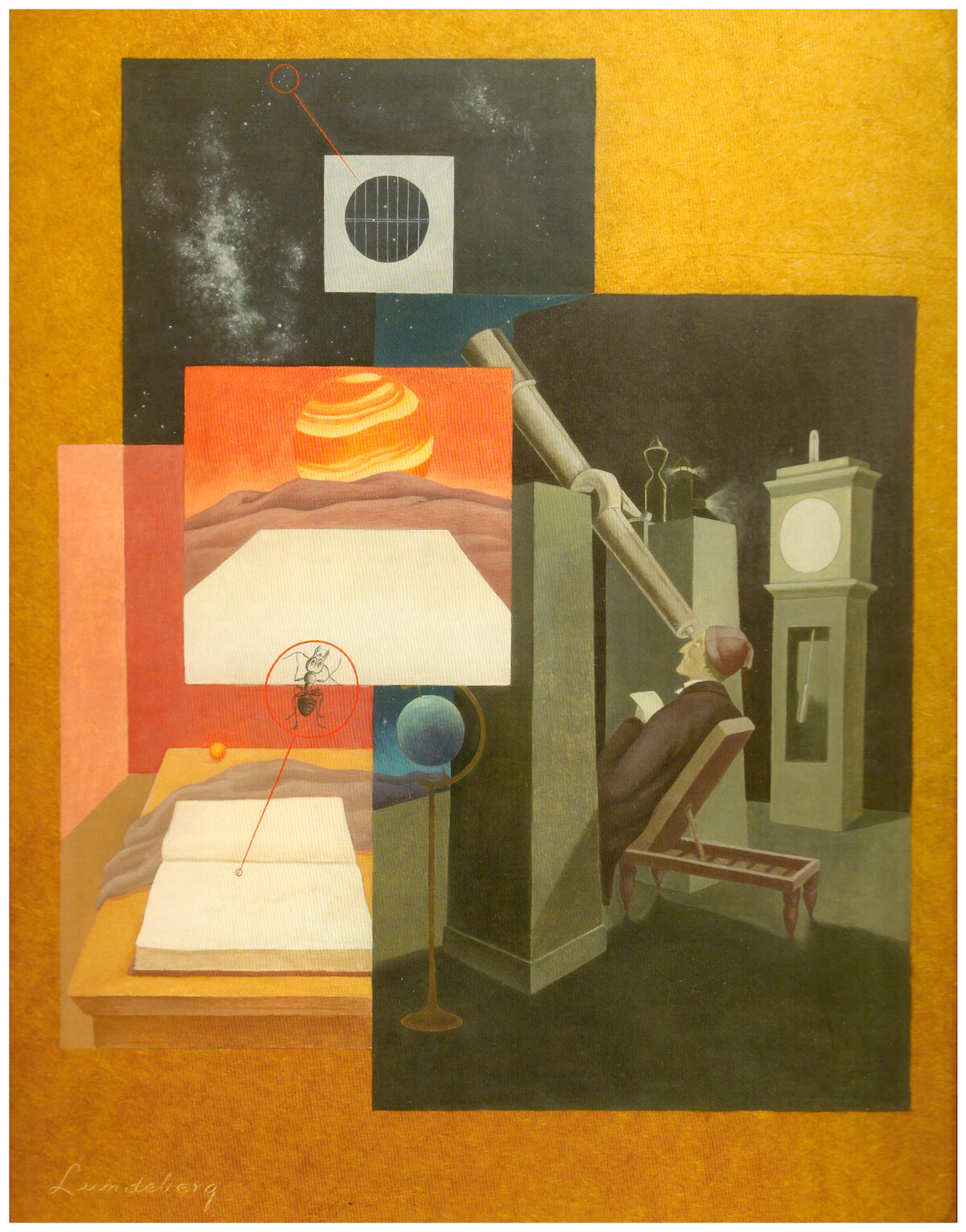 Relative Magnitude , 1936  oil on masonite 30 x 24 inches; 76.2 x 61 centimeters  The Buck Collection at The UCI Museum and Institute for California Art