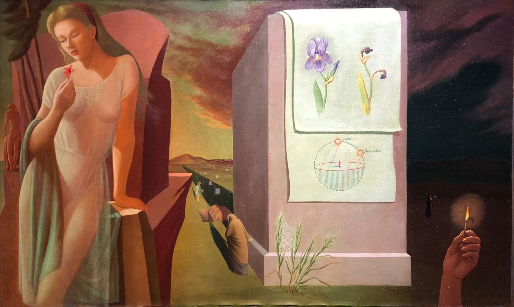 The Evanescent , 1941-44 oil on canvas 36 3/8 x 60 inches; 92.4 x 152.4 centimeters  Private Collection