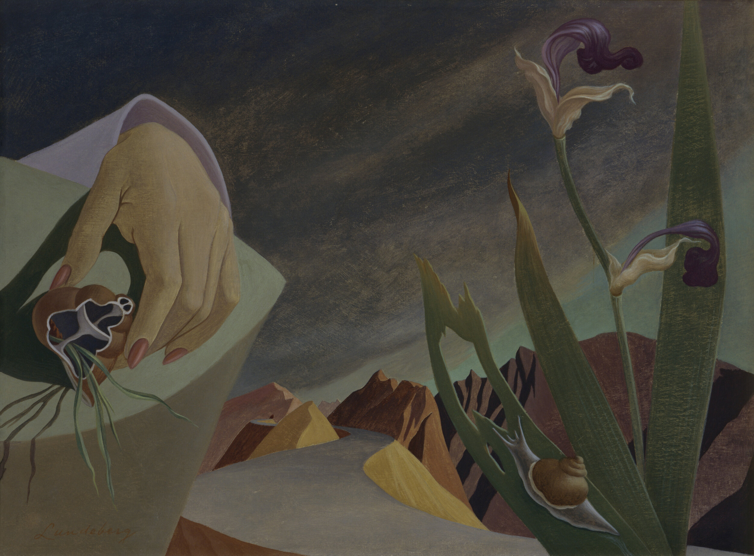 Poetic Justice,  1945    oil on cardboard   13 x 17.5 inches; 33.02 x 44.45 centimeters  Oakland Museum of California
