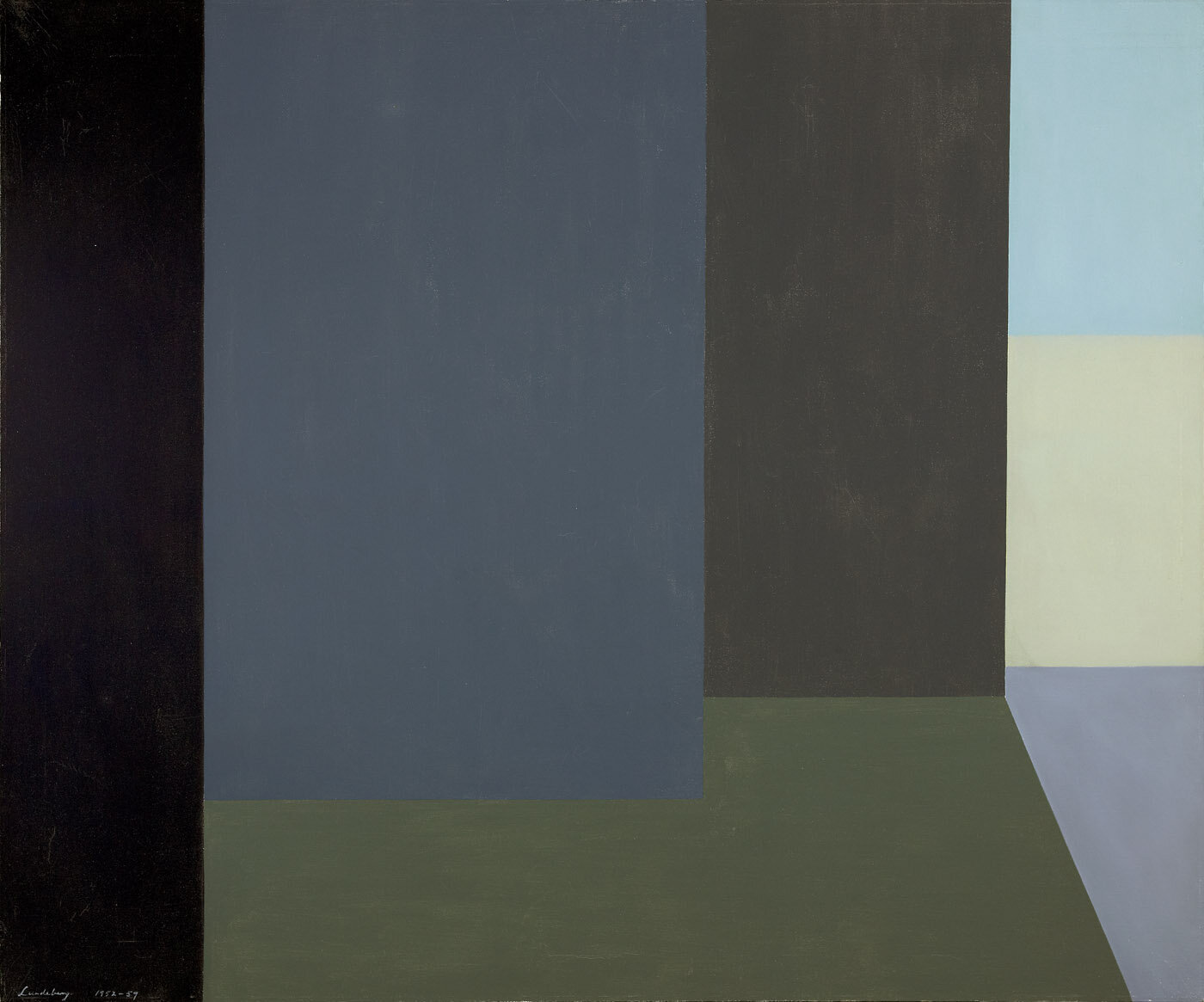 Silent Interior , 1952  oil on canvas 30 x 36 inches; 76.2 x 91.4 centimeters