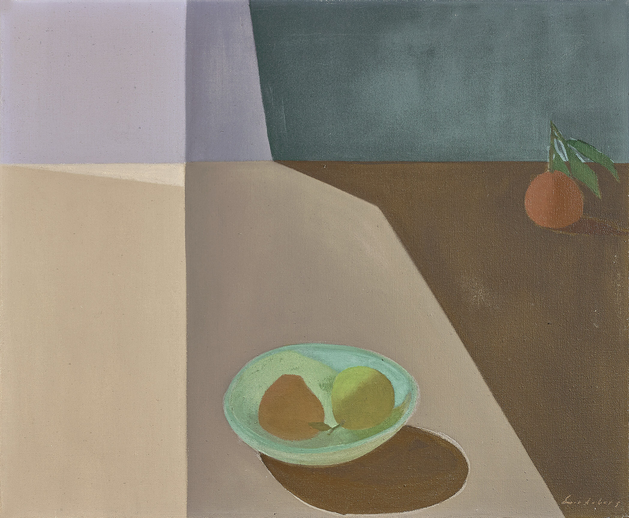 Fruit in Space , 1953  oil on canvas 20 x 24 inches; 50.8 x 61 centimeters