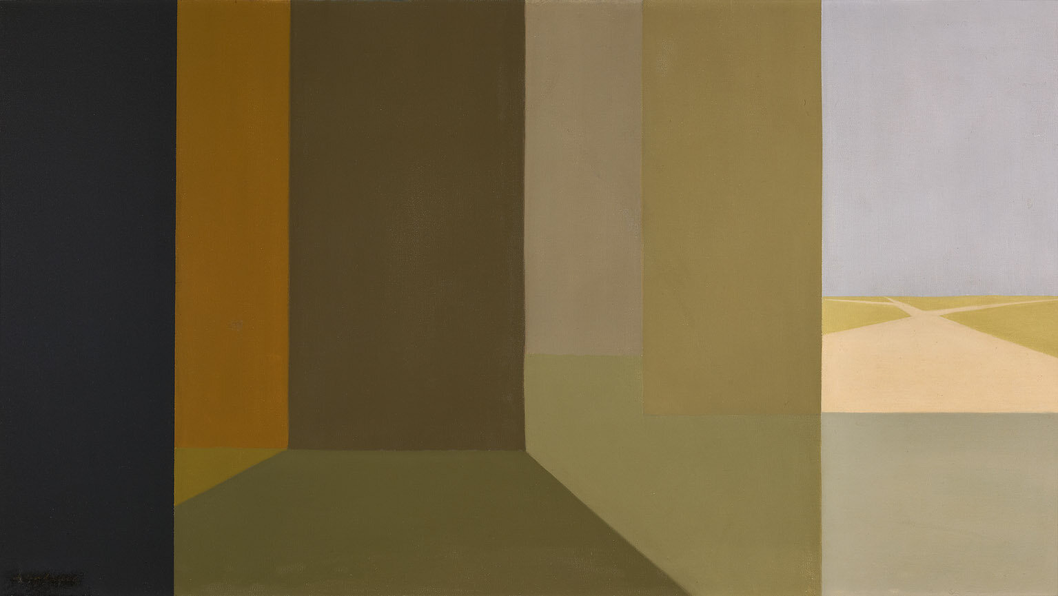 The Road , 1958  oil on canvas 20 x 36 inches; 50.8 x 91.4 centimeters