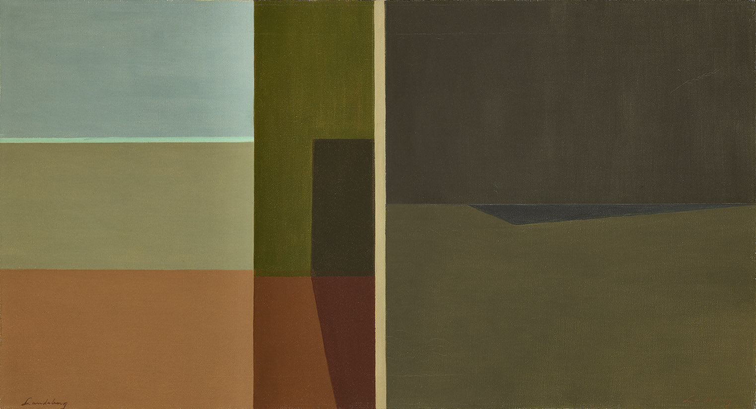 Ambiguity , 1959  oil on canvas 20 x 36 inches; 50.8 x 91.4 centimeters