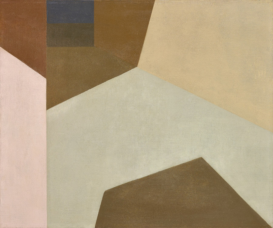 Sunny Corridor , 1959  oil on canvas 20 x 24 inches; 50.8 x 60.9 centimeters