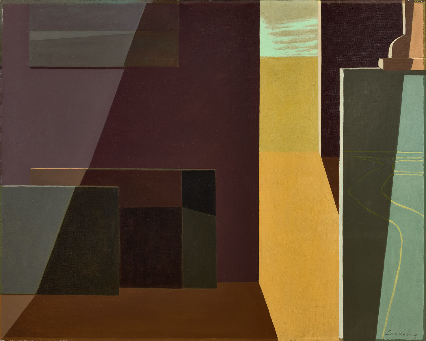 Studio– Afternoon , 1958 - 1959 oil on canvas 24 x 30 inches; 62 x 76.2 centimeters  Laguna Beach Museum of Art