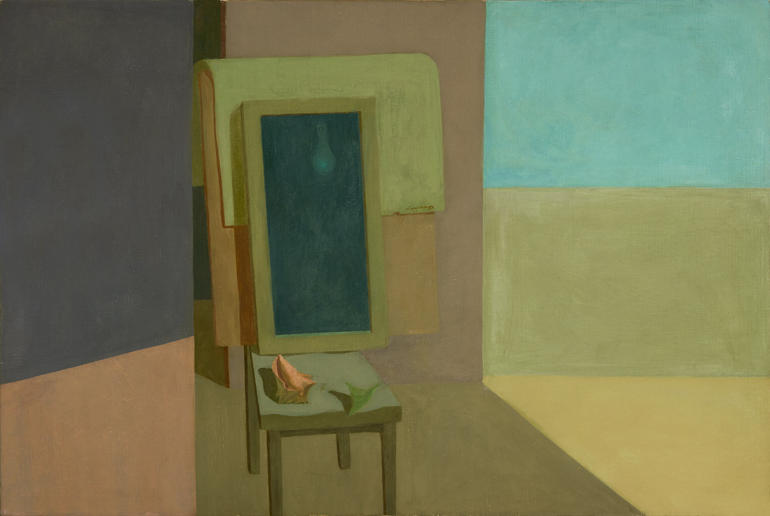 The Mirror (The Mirror III) , 1956 oil on canvas 40 x 60 inches; 101.6 x 152.4 centimeters