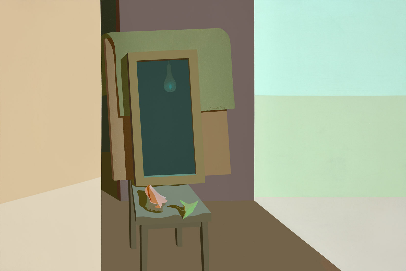 The Mirror , 1952-1969  acrylic on canvas 40 x 60 inches; 101.6 x 152.4 centimeters