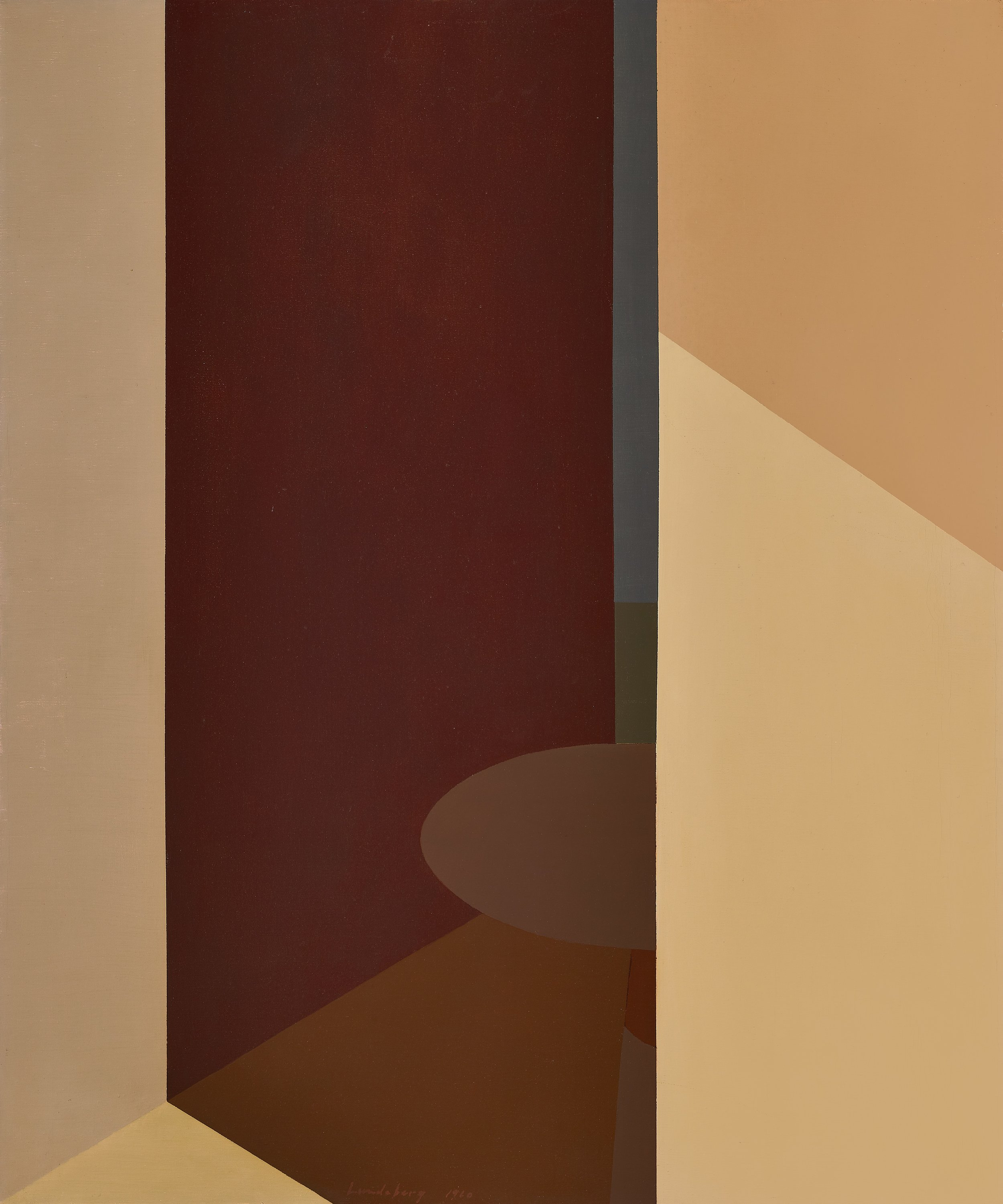 Day and Night , 1959-1960  oil on canvas 40 x 40 inches; 101.6 x 101.6 centimeters