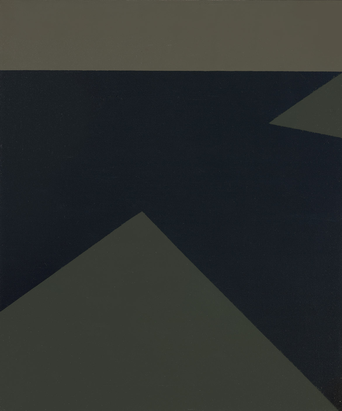 Estuary , 1960  oil on canvas 24 x 20 inches; 61 x 50.8 centimeters