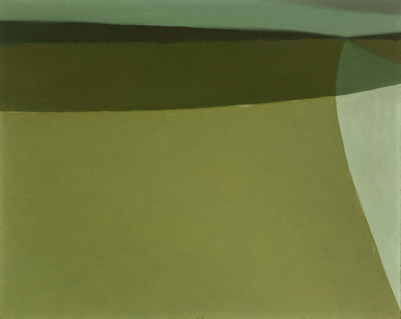 Road in Shadow , 1960  oil on board 8 x 10 inches; 20.3 x 25.4 centimeters