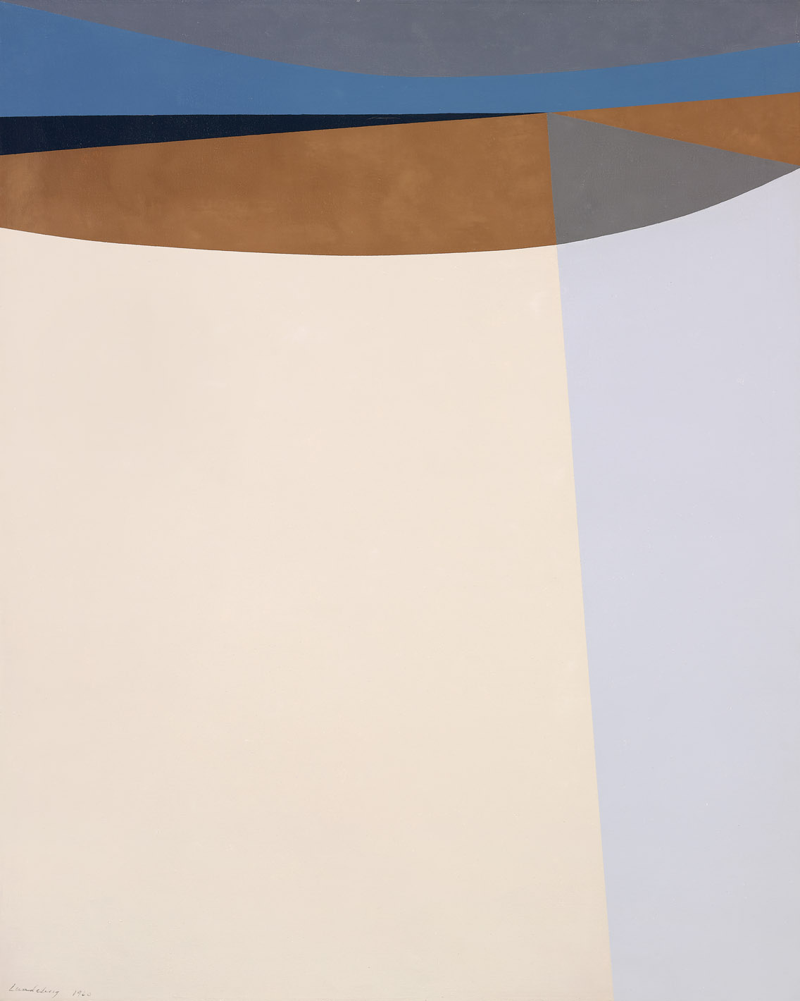 Desert Road , 1960  oil on canvas 50 x 40 inches; 127 x 101.6 centimeters