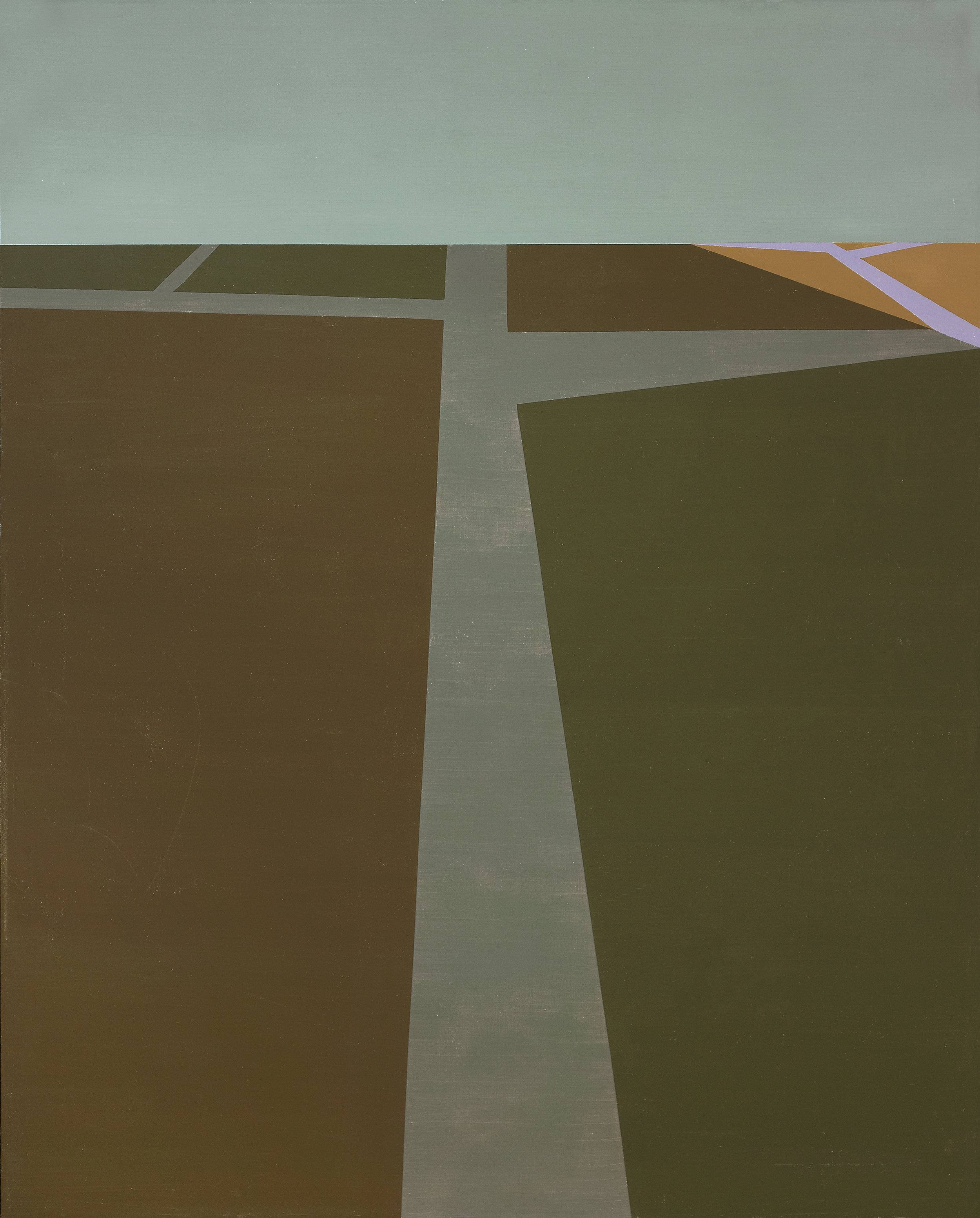 The Poet's Road , 1961  oil on canvas 50 x 40 inches; 127 x 101.6 centimeters