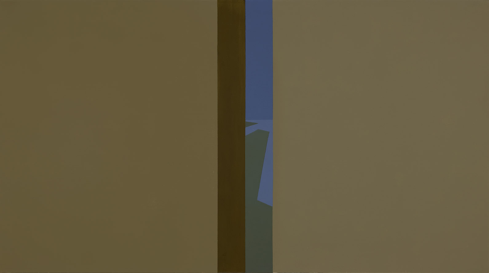 Narrow View , 1961  oil on canvas 30 x 54 inches; 76.2 x 137.2 centimeters