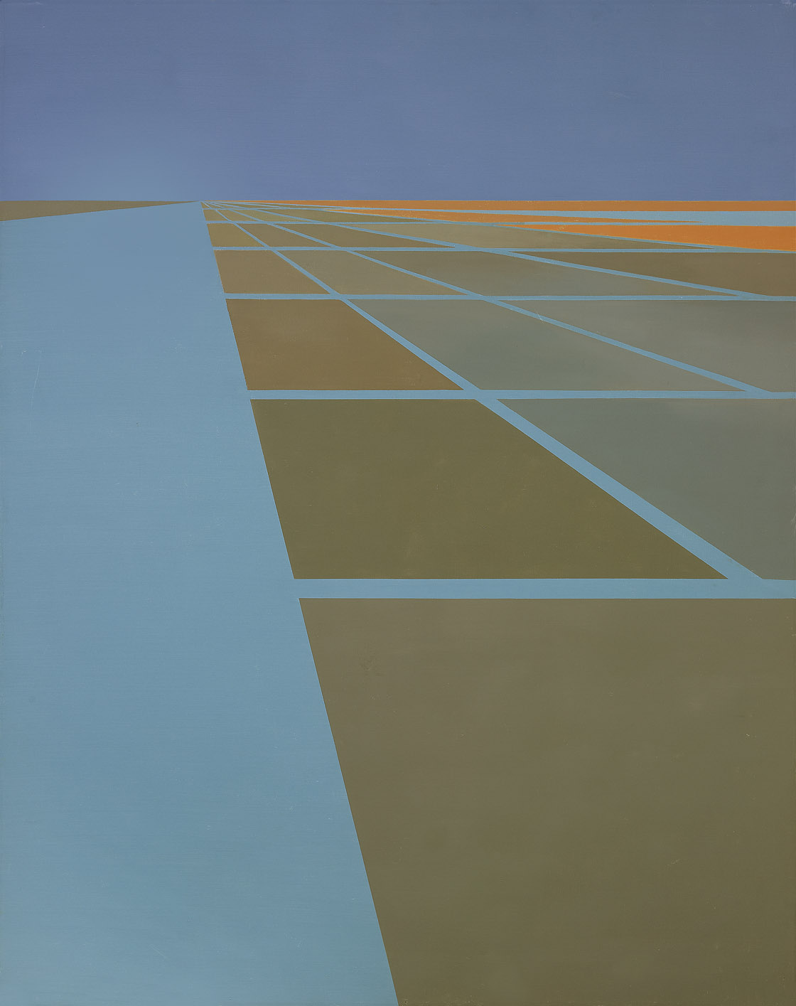 Waterways #1 , 1961  oil on canvas 50 x 40 inches; 127 x 101.6 centimeters